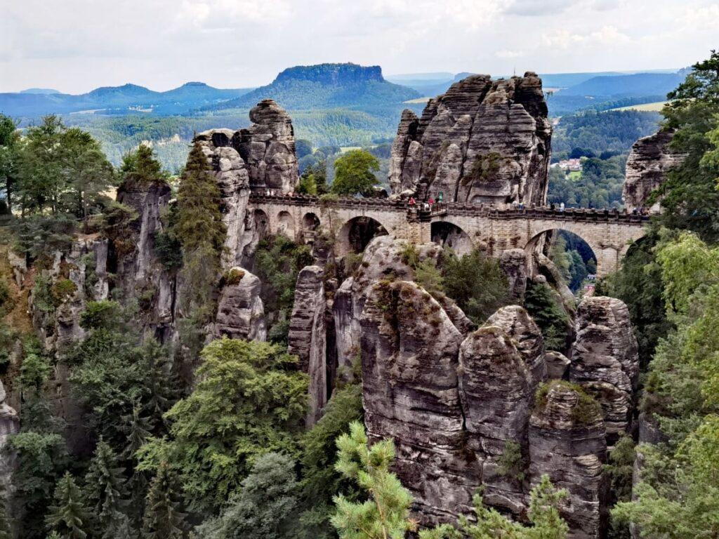 Die Basteibrücke im Nationalpark Sächsische Schweiz