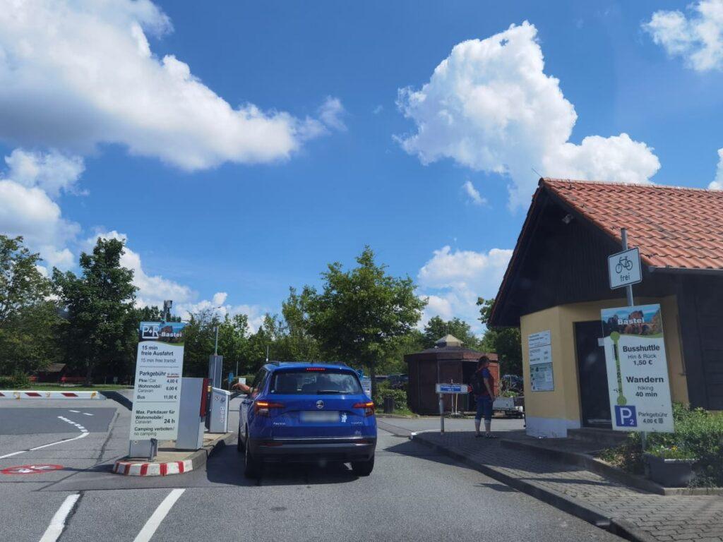 Der Basteibrücke Parkplatz P1 - Park & Ride Parkplatz zur Bastei