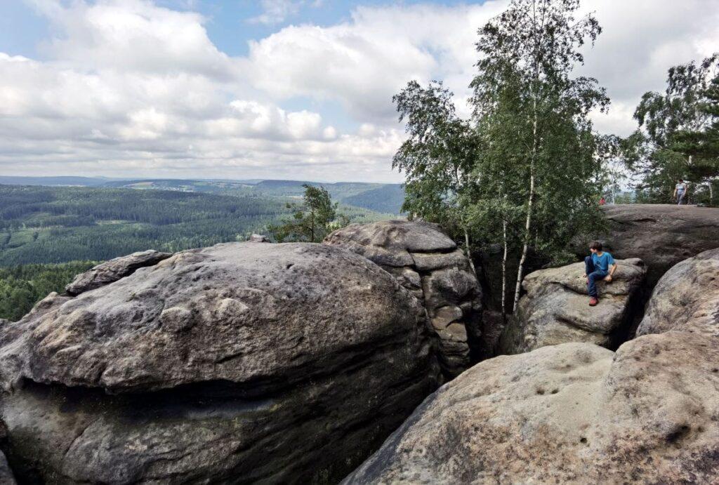 Das eindrucksvolle Felsenplateau bei der Barbarine