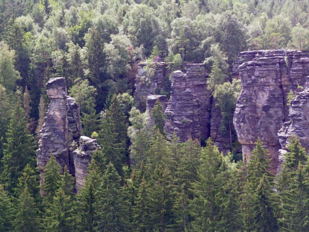 Aussichtsreich im Bielatal wandern - das ist die Aussicht von der Kaiser Wilhelm Feste zum Nachbar - Aussichtspunkt