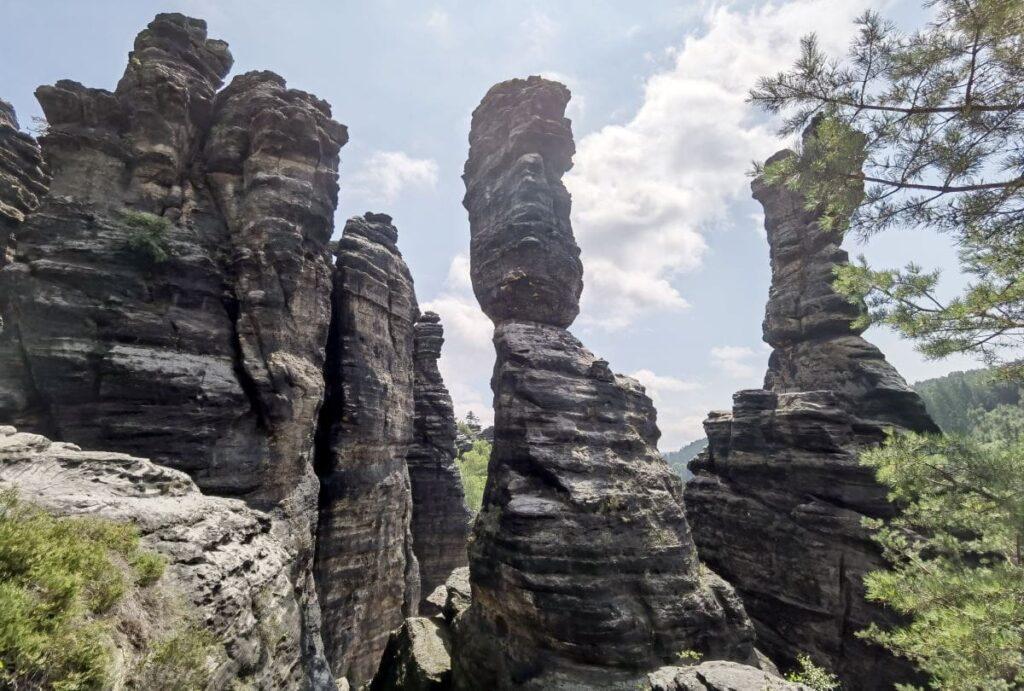 Die Herkulessäulen im Bielatal, Elbsandsteingebirge
