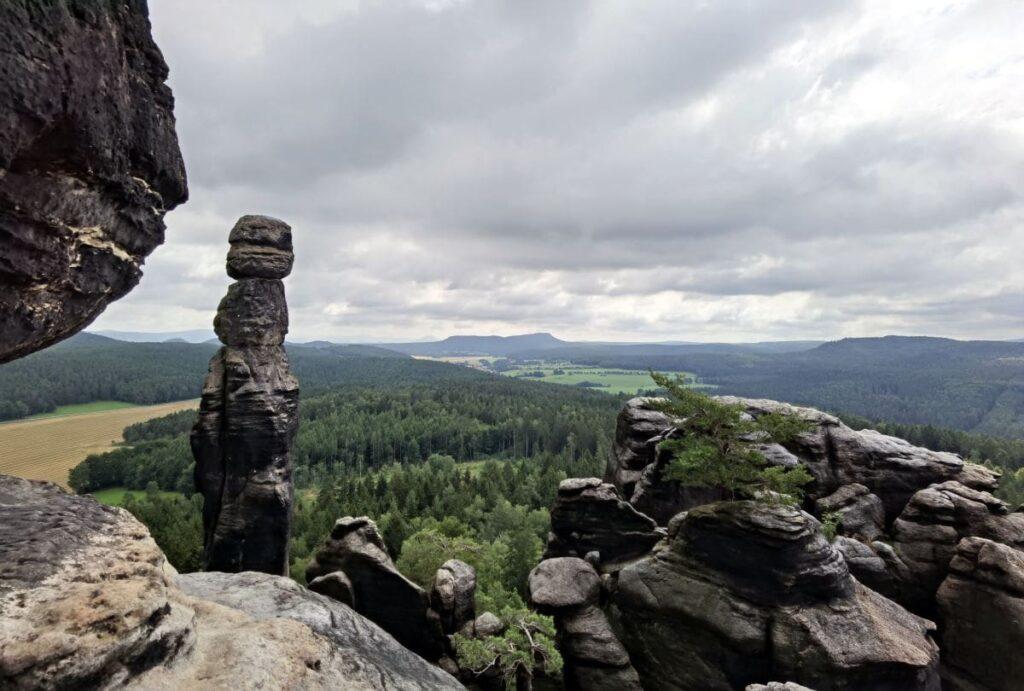 Ausblich bei der Barbarine auf dem Pfaffenstein