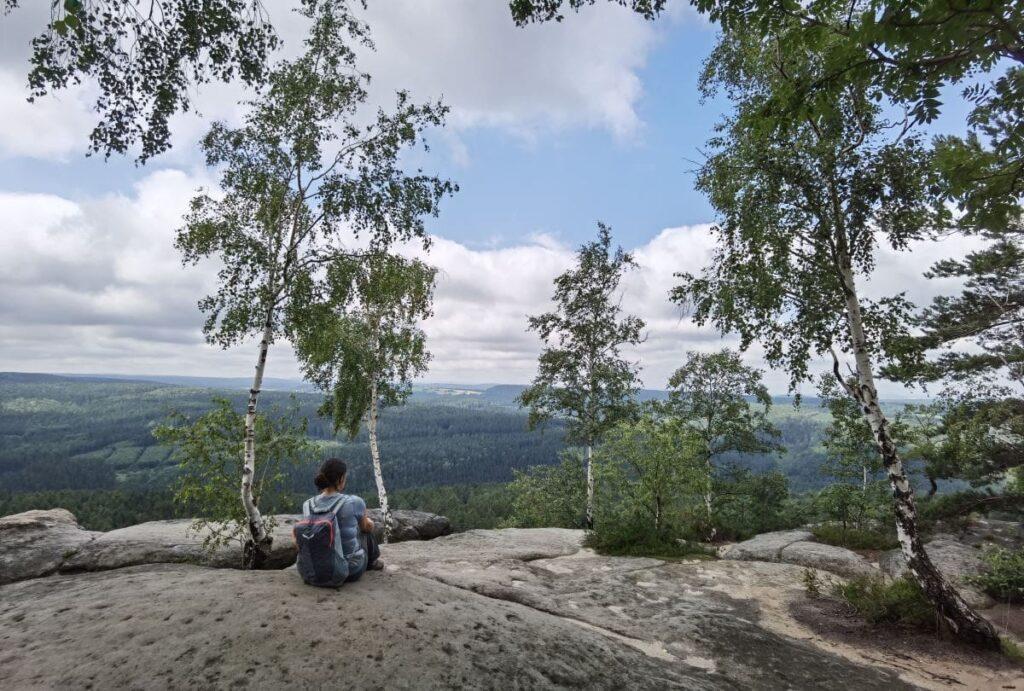 Perfekte Aussichtsplätze am Pfaffenstein - auch für ein Picknick