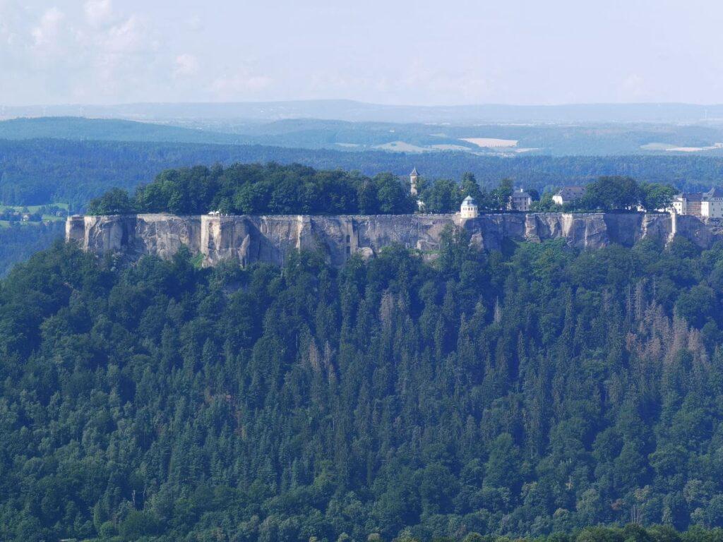 Ausblick zur Festung Königstein