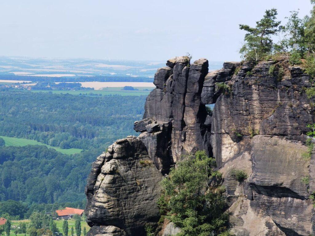 Eine der schönsten Felsformationen auf dem Lilienstein