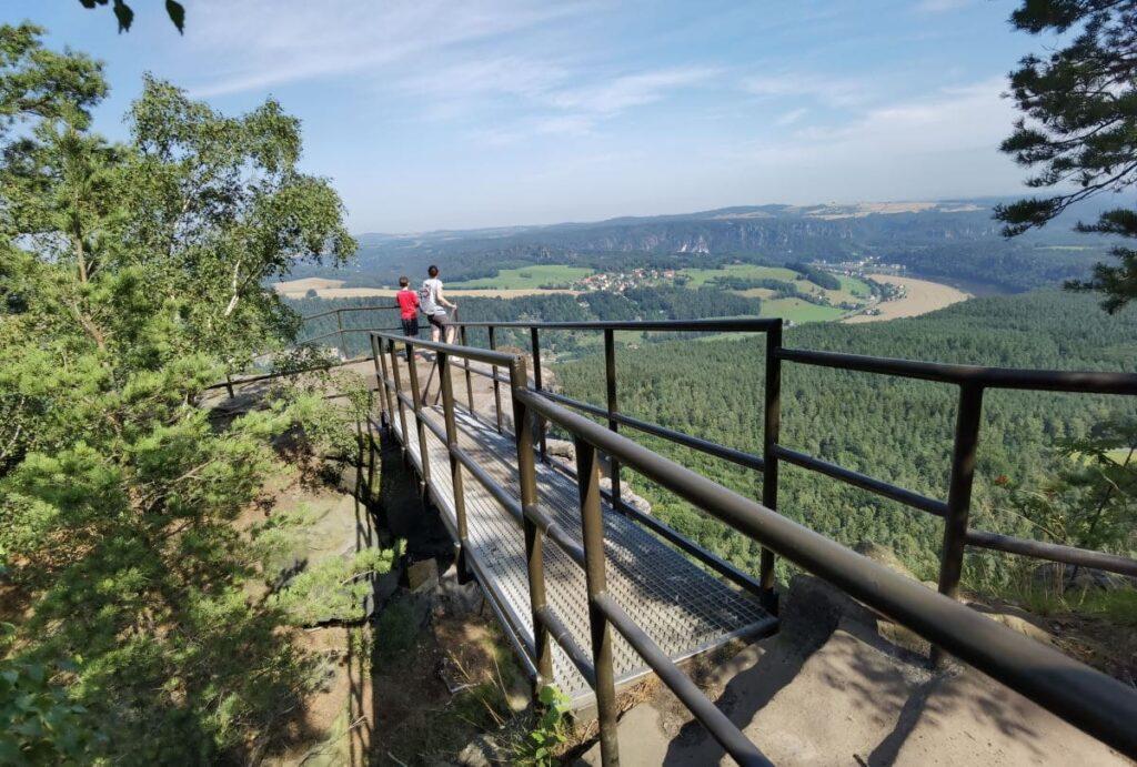 Auf dem Lilienstein wandern, mit viel Panorama und Aussichtspunkten